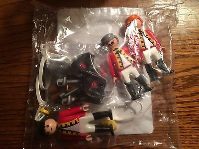 Playmobil 6229 3 British Redcoat Soldiers New in Bag!