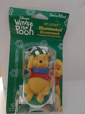 Disney Winnie The Pooh Christmas Ornament Lights Up 4 In Long 2002   Mip