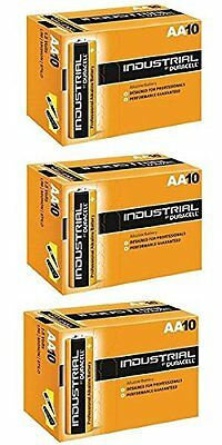 30 X Duracell AA Industrial Battery Alkaline Replaces Procell Expiry 2021 - Bulk
