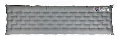 Big Agnes Insulated Q-Core Long 20x78x4 Sleeping Air Pad Silver Grey Brand New