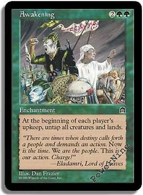 4 PLAYED Awakening - Green Stronghold Mtg Magic Rare 4x x4