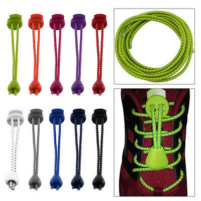 Elastic Lock Shoe Laces Shoelace Triathlon Running Trainers Boots Elasticated
