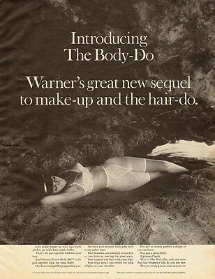 1967 vintage lingerie ad, Warner's 'Body-Do' Bra and Girdle, outdoors- 052013