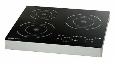 Bartscher 105940 induction cooker IK 3341, 3 plates, 3,4 kW, 510x485x65 mm UK