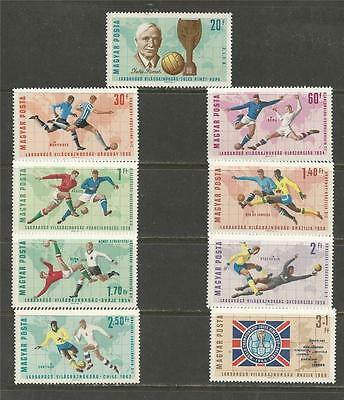 HUNGARY - 1966 Football World Cup - England   - MINT UNHINGED SET.