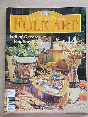 Folk Art & Decorative Painting Vol 9 #7~Country Style~14 Projects~2002