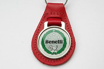 Benelli Red Leather Keyring, Key Chain, Key Fob