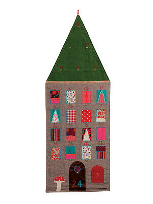 Maileg - Christmas Countdown Advent Calendar House - Grey -1-24 Numbered Pockets