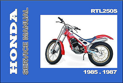 HONDA Workshop Owners Parts Manual RTL250S 1985 1986 & 1987 Spares Catalog List