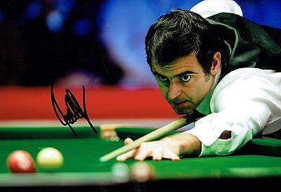 Ronnie O'SULLIVAN 2016 SIGNED Autograph 12x8 Photo B AFTAL COA Snooker Champion