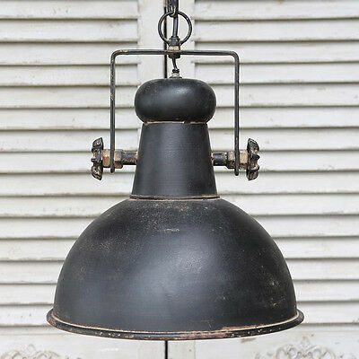 Black retro industrial style ceiling light fitting rustic pendant light metal
