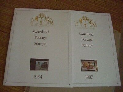 Swaziland 1983-84 Mint never hinged sets in Folders