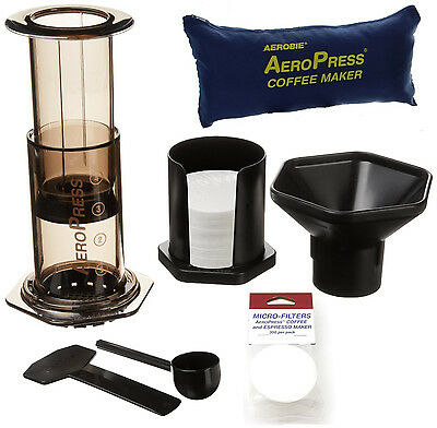 Aerobie Aeropress Coffee Maker With 700 Filters And Tote Travel Bag