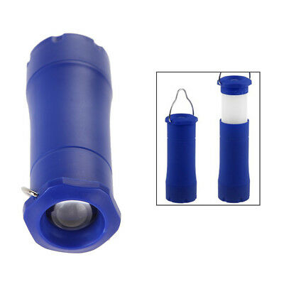3W Retractable Lantern Light LED Flashlight Torch Outdoor Lamp / Blue