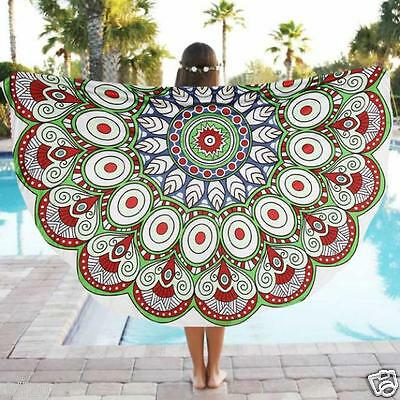 Round Wall Hanging Beach Pool Home Shower Towel Blanket Table Cloth Yoga Mat New