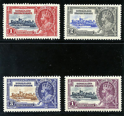Somaliland 1935 KGV Silver Jubilee set complete MLH. SG 86-89. Sc 77-80.