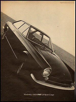1970 vintage automobile ad for Fiat 124 Sports Coup -1127