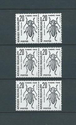 TAXES - 1964-71 YT 104 paires - TIMBRES NEUFS** LUXE