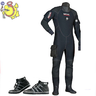 UK Dry Suit SEAC Sub WARM DRY man + rook boot