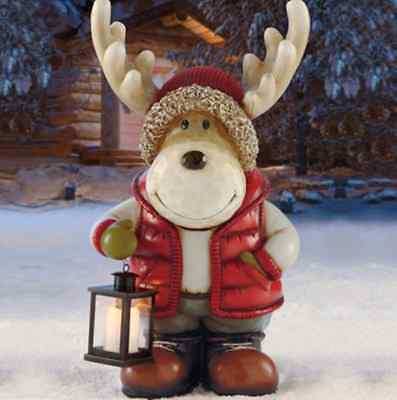 ** Large Moose With Lantern Led Christmas Xmas Indoor Outdoor Decoration Gift