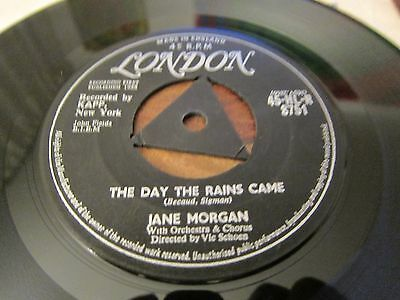 """Jane Morgan - The Day The Rains Came - 1958 Uk Number 1 Hit - 7"""" In Vg Con"""