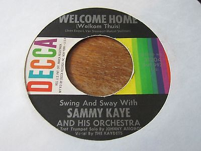 """Sammy Kaye & His Orchestra - Welcome Home - Rare 1961 Us 7"""" In Very Good Con"""