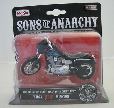Maisto Motorcycle 1/18 Harley Davidson Sons of Anarchy Opie Dyna Super Glide