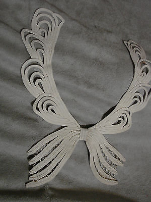 Vintage Tape Lace Collar EC Edwardian Victorian BOW Ivory SAKS France