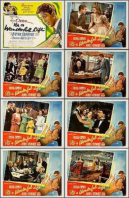 IT'S A WONDERFUL LIFE JAMES STEWART Set Of 8 Indiv 8x10 LC Prints 1946 SALE