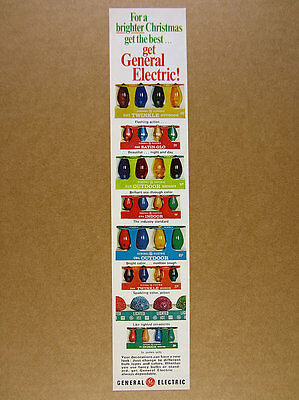 1967 GE General Electric Christmas Lights twinkle lighted ice vintage print Ad