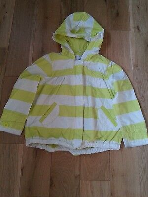 Next girls summer coat. Lime green and white stripe. Age 5-6yrs.