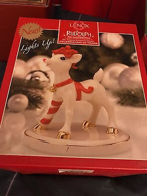 LIGHT UP LENOX- RUDOLPH THE RED NOSE REINDEER FIGURE - 50 Years Anniversary