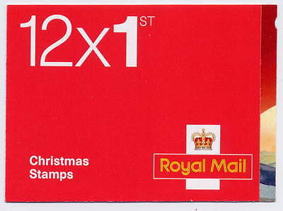 GB 2015 12 x 1st CLASS CHRISTMAS BOOKLET LX50