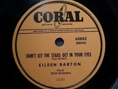 """EILEEN BARTON """"Don't Let The Stars Get In Your Eyes / Tennessee Tango"""" Coral 10"""""""