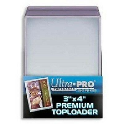 100 Ultra Pro Premium 3x4 Toploaders Brand New top loaders + 100 soft sleeves
