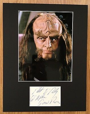 ROBERT O'REILLY Star Trek The Next Generation Gowron Q'Apla SIGNED OVERALL 11x14