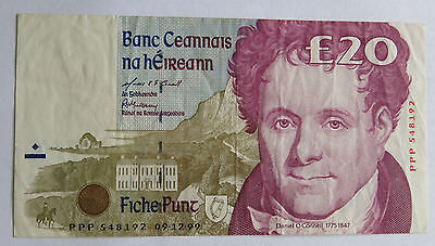 Replacement PPP 1999 Ireland eIRE 20 Pound Banknote Pick-77r5