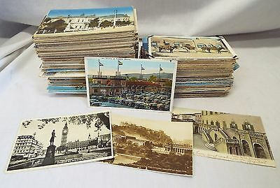 HUGE LOT of Old ASSORTED FOREIGN COUNTRIES POSTCARDS Mexico U.K. Cuba