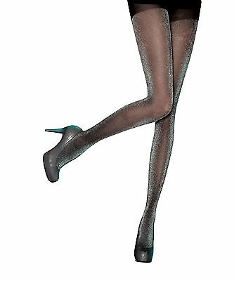 Pretty Polly Sheer Lurex Tights in Black