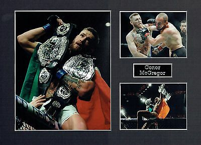 Conor McGREGOR The Notorious Photo 16 x 12 Montage A UFC Fighter World Champion