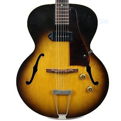 Vintage 1957 Gibson Es-125 Hollow-Body Electric Guitar Sunburst Finish