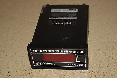 ^^ Omega Model 650 Type S Thermocouple Thermometer Panel Meter (Z9)