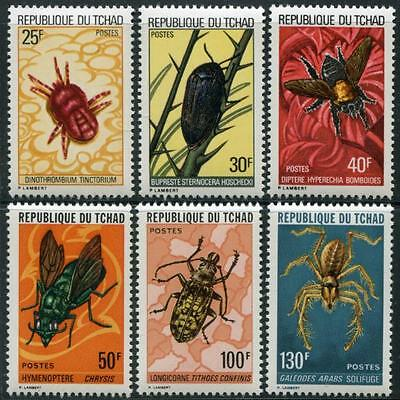 CHAD Sc.# 295-300 Insects Stamps