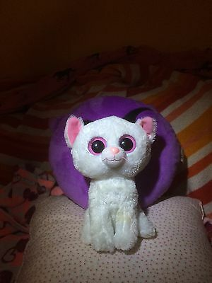 """Rare Ty Beanie Boo Plush Toy Cashmere  the White Cat  9"""""""