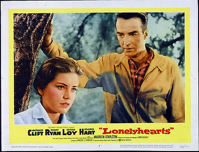 LONELYHEARTS 1958 Montgomery Clift, Dolores Hart  LOBBY CARD #7