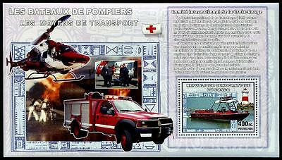 CONGO Stock# HS51 Rescue Boats (Lighthouse) Stamp S/S #3