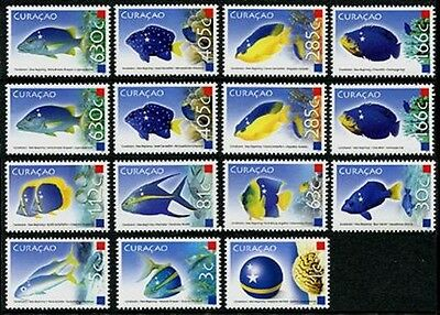 CURACAO Sc.# 3-13 New Beginnings 2011 - Fish Stamps