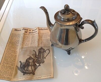 Mid Victorian Teapot, (with newspaper clipping relating to it.)