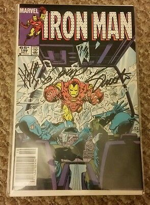 Iron Man #199 PGX signed SS Shooter Trimpe Layton