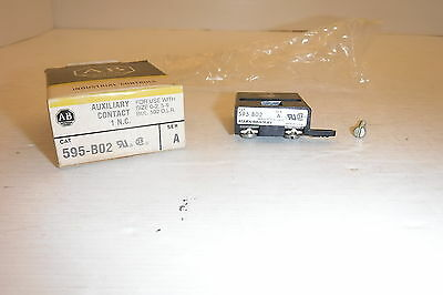 Allen Bradley595-B02 Series A For Use With Size 0.2,5-9 O. Auxiliary Contact Nib